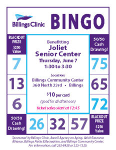 Billings Clinic Bingo